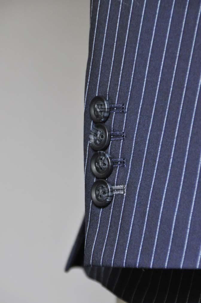 DSC0730-2 お客様のスーツの紹介-ネイビーストライプスーツ- 名古屋の完全予約制オーダースーツ専門店DEFFERT