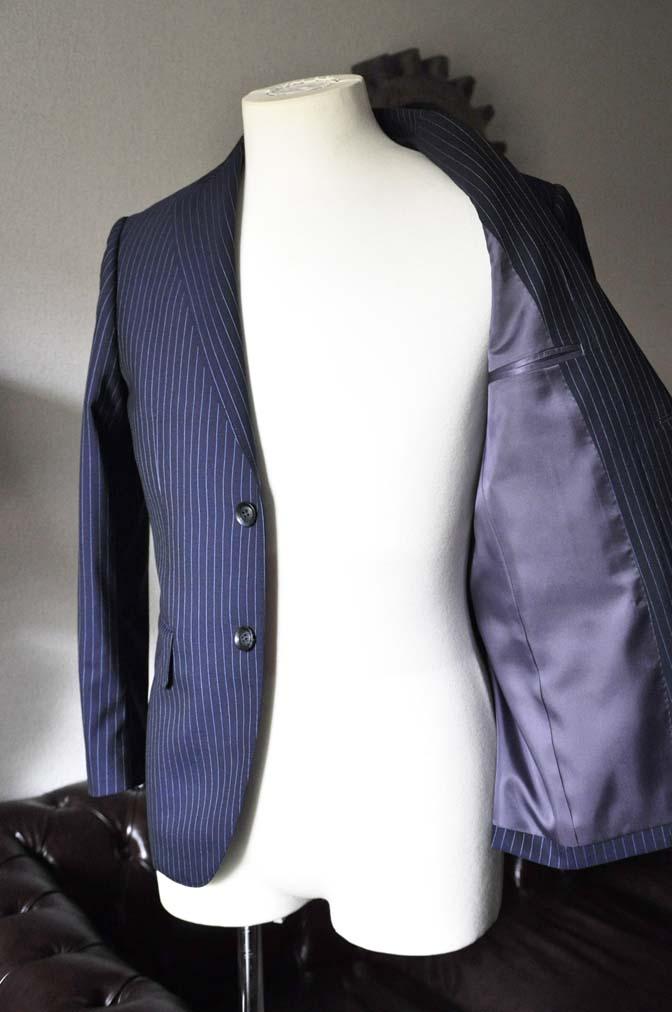 DSC0732-3 お客様のスーツの紹介-ネイビーストライプスーツ- 名古屋の完全予約制オーダースーツ専門店DEFFERT