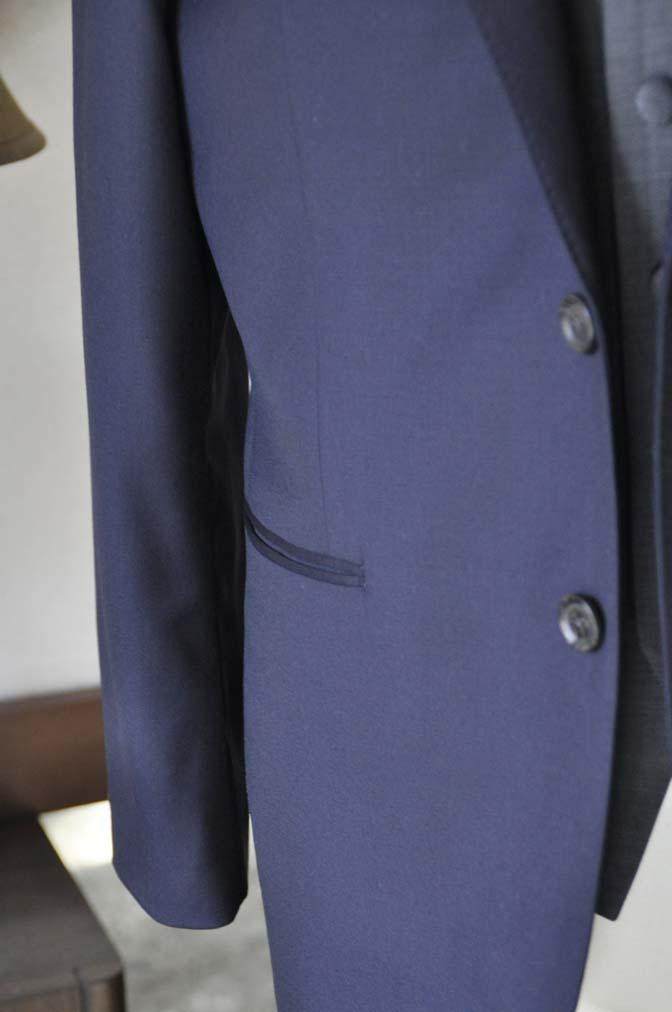 DSC0737-3 お客様のウエディング衣装の紹介- CANONICO無地ネイビースーツ グレーベスト-