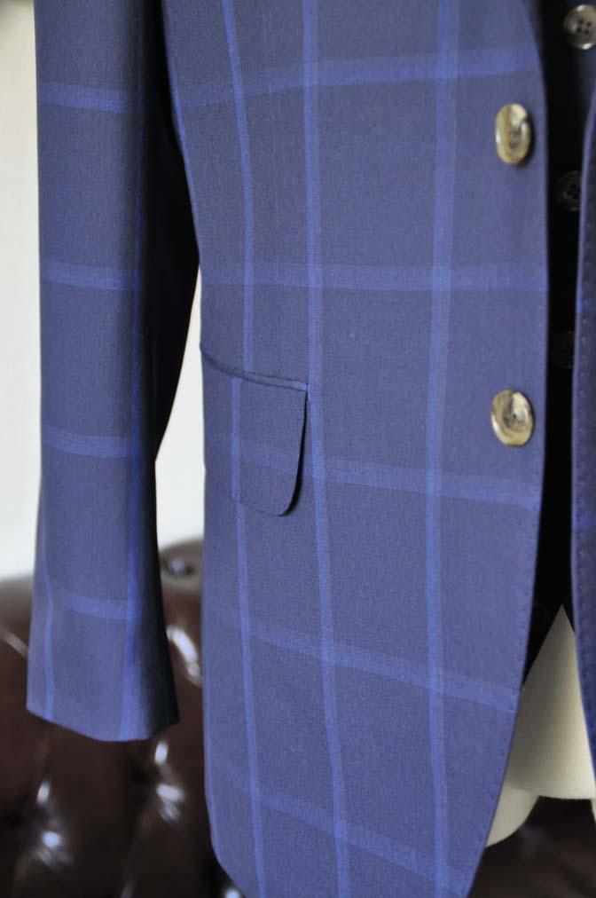 DSC0739-1 お客様のスーツの紹介- Biellesi ネイビーウィンドペン スリーピース-