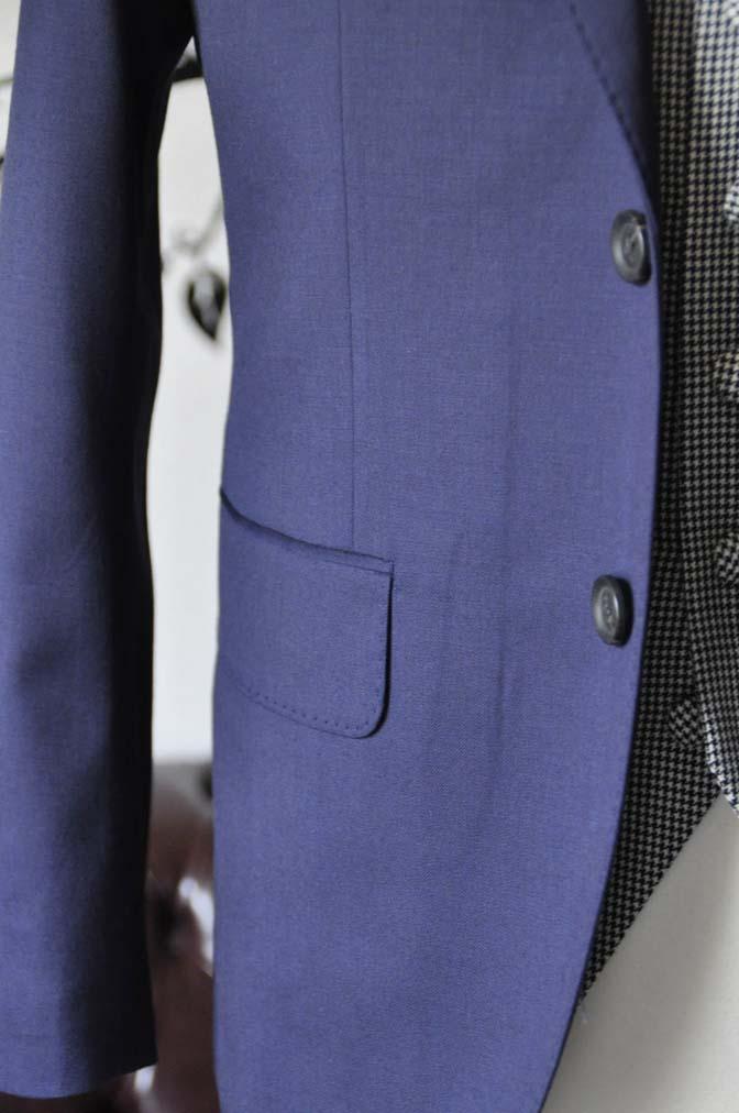 DSC0740-5 お客様のウエディング衣装の紹介- Biellesi無地ネイビースーツ 千鳥格子ベスト- 名古屋の完全予約制オーダースーツ専門店DEFFERT