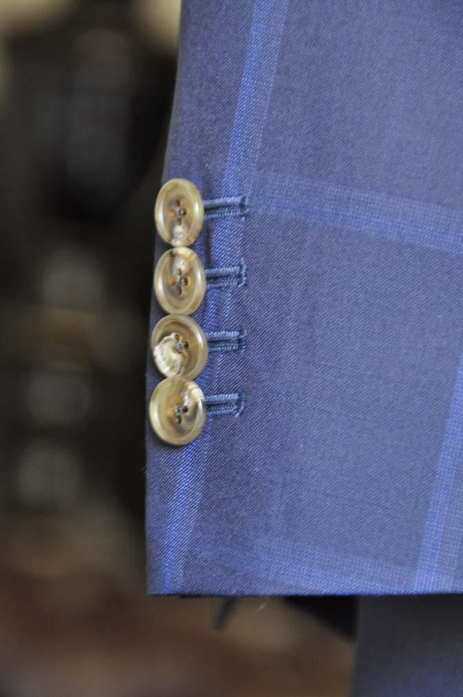 DSC0741-1 お客様のスーツの紹介- Biellesi ネイビーウィンドペン スリーピース-