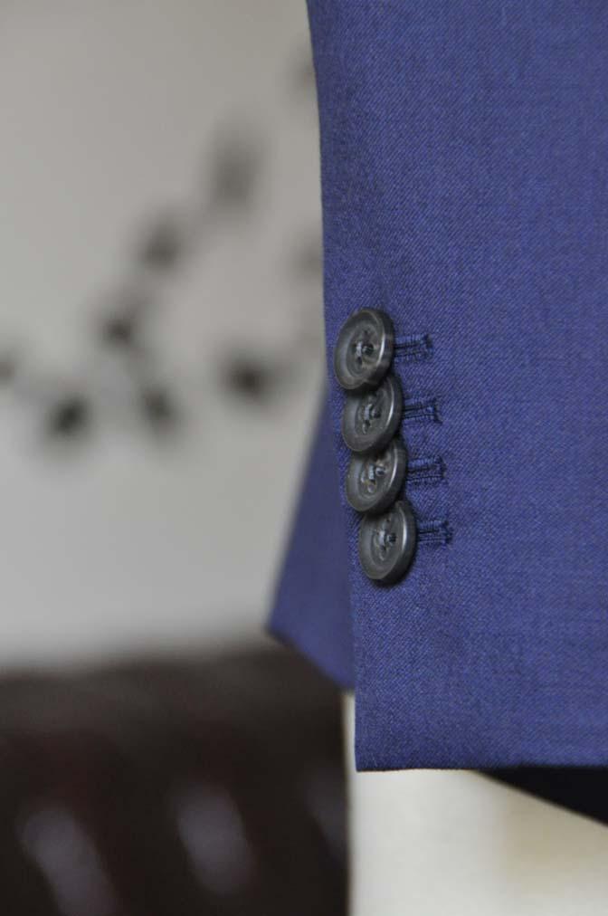 DSC0742-4 お客様のウエディング衣装の紹介- Biellesi無地ネイビースーツ 千鳥格子ベスト- 名古屋の完全予約制オーダースーツ専門店DEFFERT