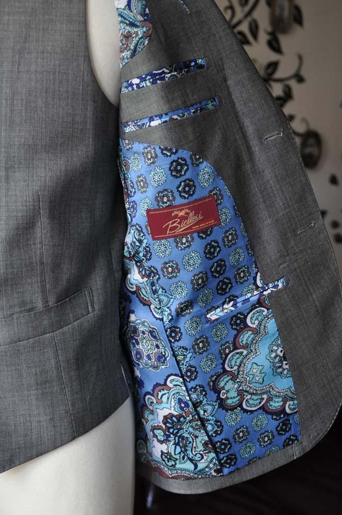 DSC0745-3 お客様のスーツの紹介-Biellesi無地グレー スリーピース- 名古屋の完全予約制オーダースーツ専門店DEFFERT