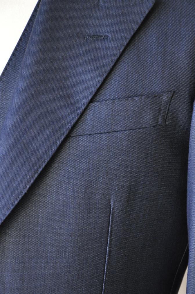 DSC07454 お客様のスーツの紹介-DORMEUIL KRONO 無地ネイビースリーピース-
