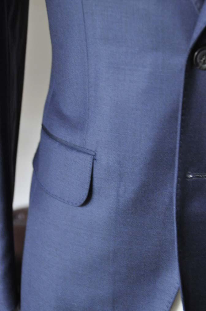 DSC0750-3 お客様のスーツの紹介- CANONICO無地ネイビー スリーピース-