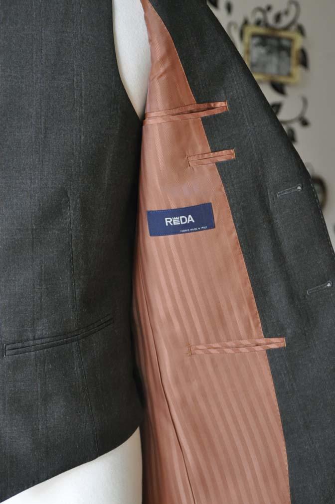 DSC0750-4 お客様のスーツの紹介-REDA グリーンチェックスリーピース-