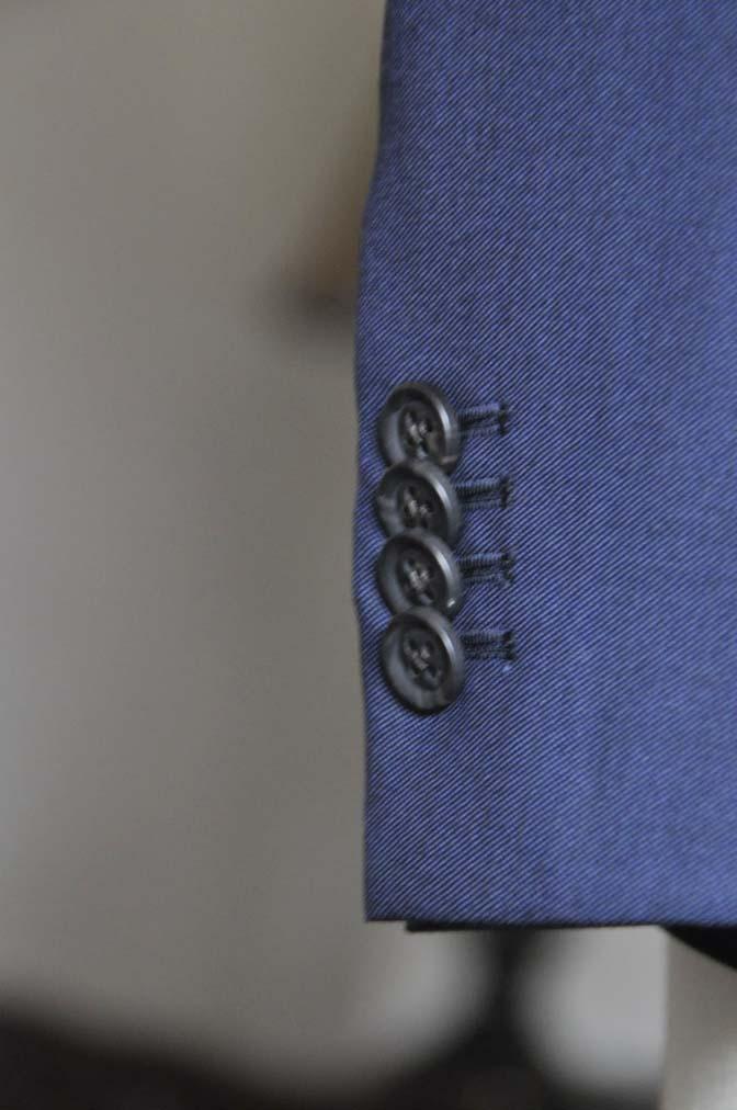 DSC0751-3 お客様のスーツの紹介- CANONICO無地ネイビー スリーピース-