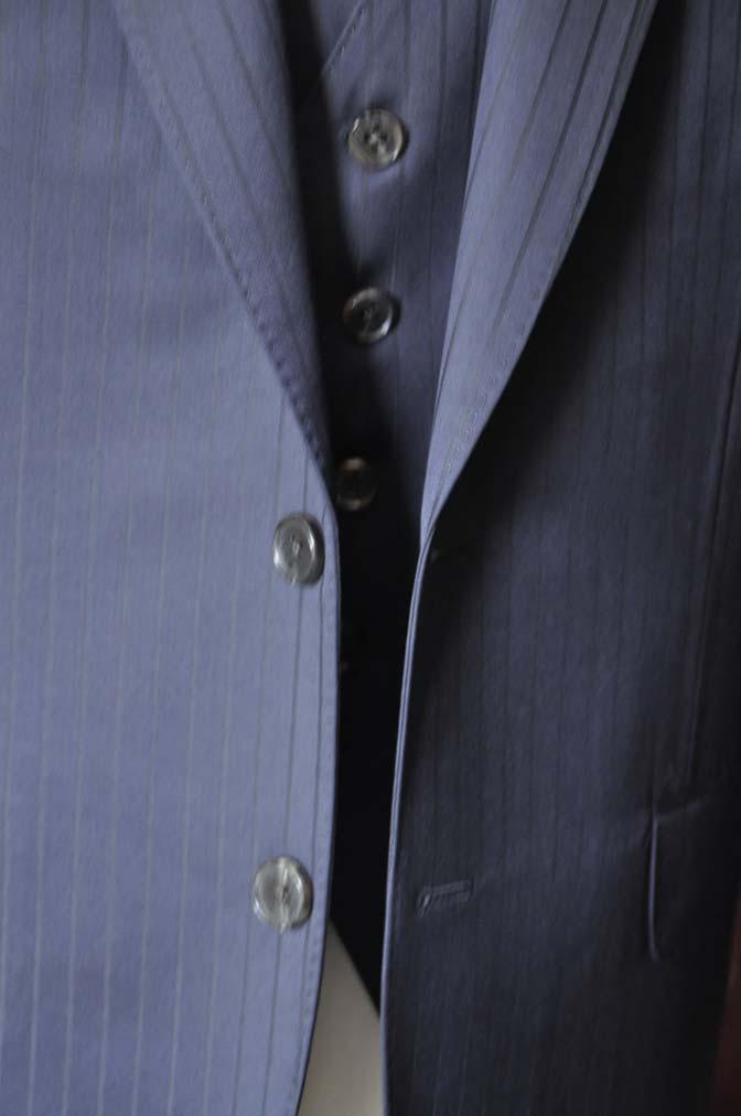 DSC0759-1 お客様のスーツの紹介- CANONICOネイビーストライプ スリーピース-