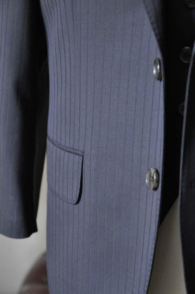 DSC0760-1 お客様のスーツの紹介- CANONICOネイビーストライプ スリーピース-