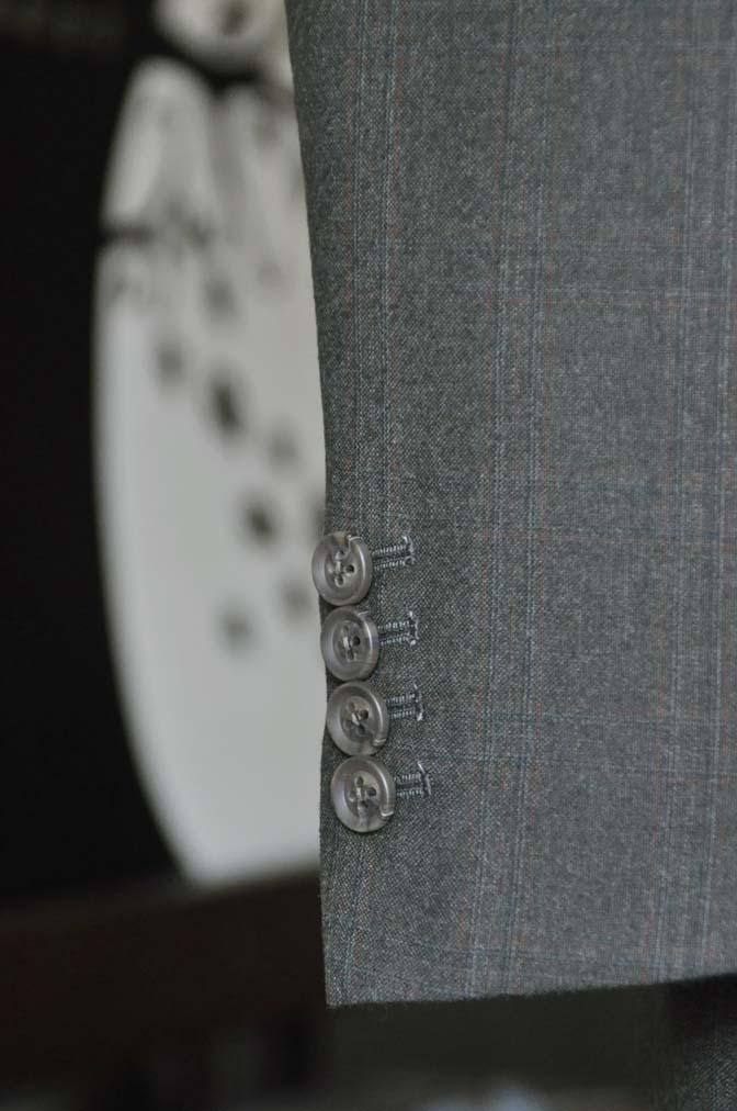 DSC0761-2 お客様のスーツの紹介-REDA グリーンチェックスリーピース-