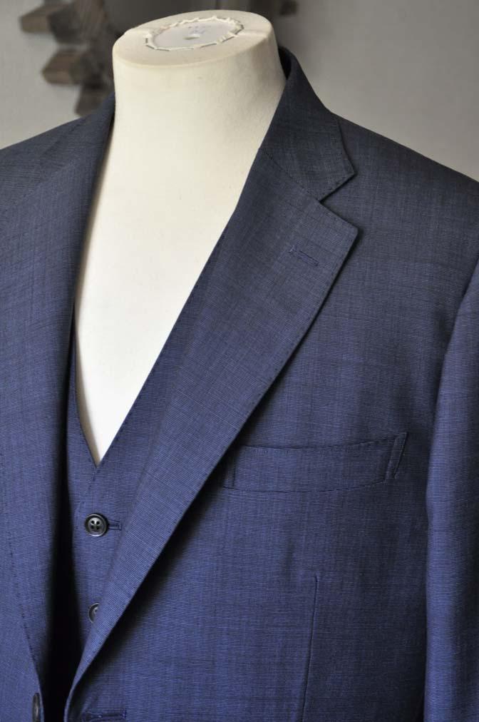 DSC0764-1 お客様のスーツの紹介- Biellesi 無地ネイビースリーピース- 名古屋の完全予約制オーダースーツ専門店DEFFERT