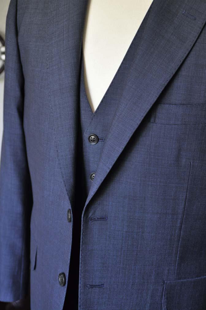 DSC0766-1 お客様のスーツの紹介- Biellesi 無地ネイビースリーピース- 名古屋の完全予約制オーダースーツ専門店DEFFERT