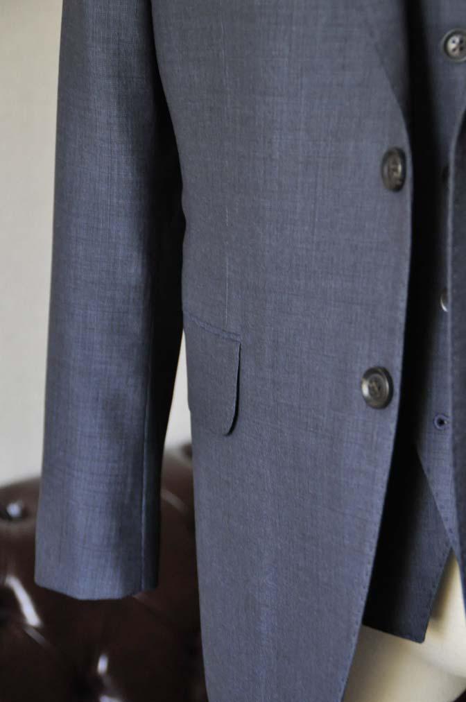 DSC0770-1 お客様のスーツの紹介- Biellesi 無地ネイビースリーピース- 名古屋の完全予約制オーダースーツ専門店DEFFERT