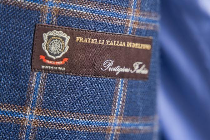 DSC07706 オーダージャケットの紹介-Tallia di delfino  ネイビーウィンドペンジャケット-