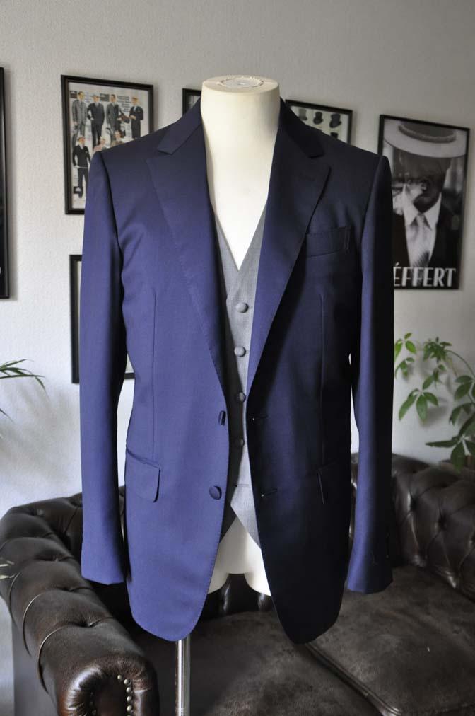 DSC07723 お客様のウエディング衣装の紹介-Biellesi無地ネイビー グレーベスト/グリーンチェックベスト-