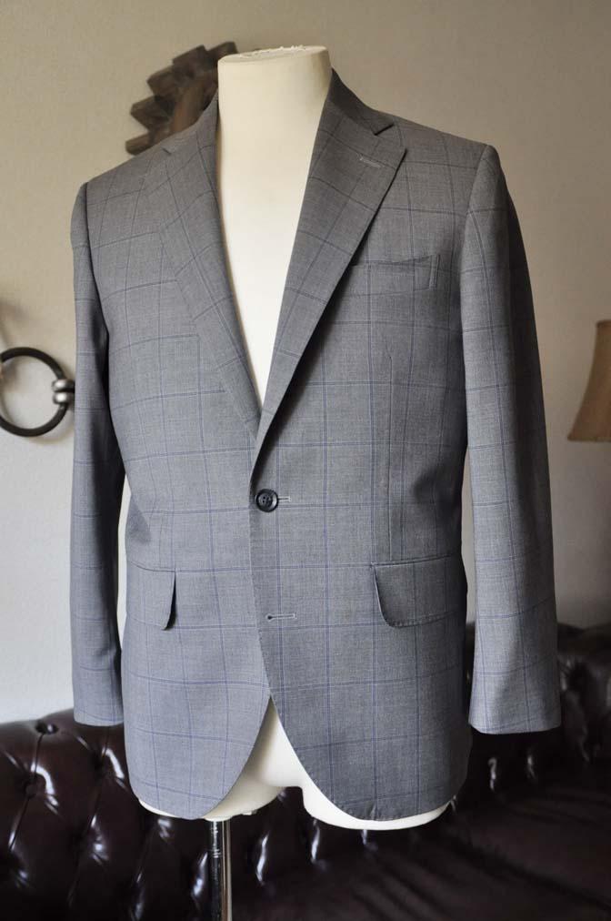 DSC0775-1 お客様のスーツの紹介- Biellesi グレーウィンドペン-