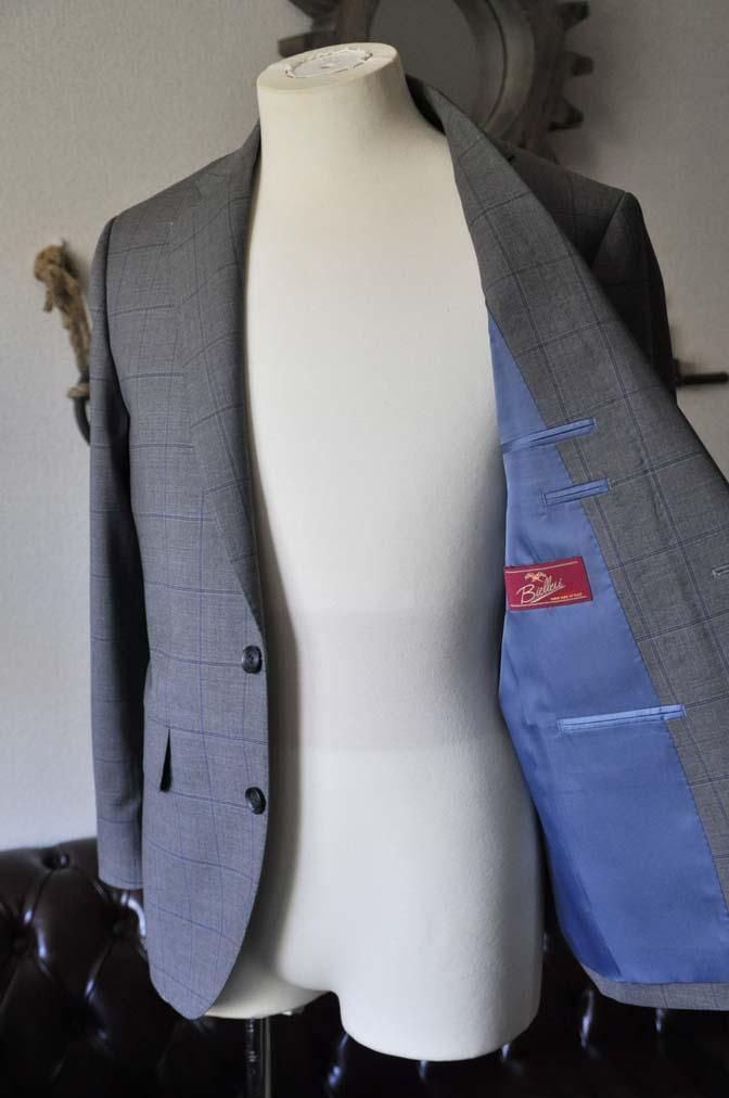 DSC0776-1 お客様のスーツの紹介- Biellesi グレーウィンドペン-