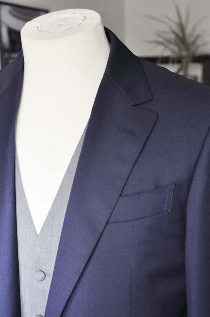 DSC0776 お客様のウエディング衣装の紹介-Biellesi無地ネイビー グレーベスト/グリーンチェックベスト-