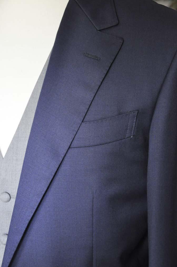 DSC07771 お客様のウエディング衣装の紹介-Biellesi無地ネイビー グレーベスト/グリーンチェックベスト-