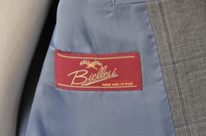 DSC0778-1 お客様のスーツの紹介- Biellesi グレーウィンドペン-