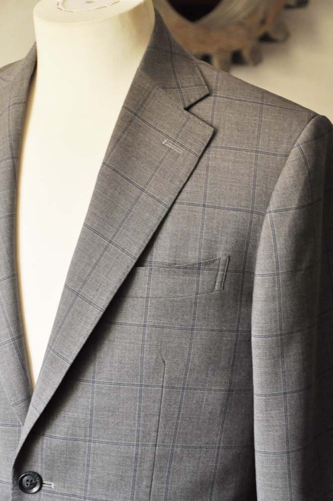 DSC0779-1 お客様のスーツの紹介- Biellesi グレーウィンドペン-