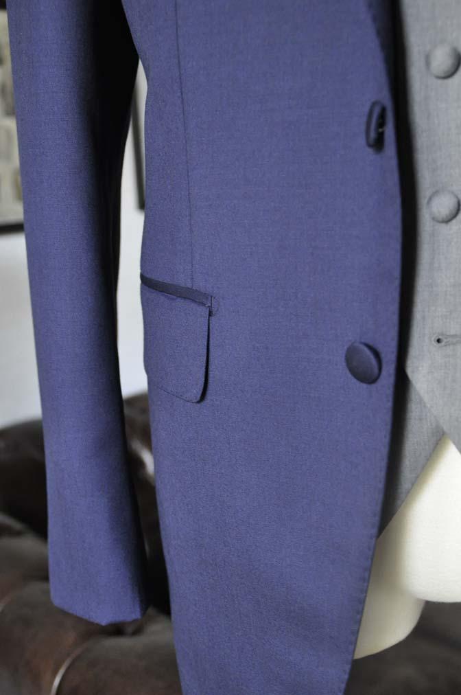 DSC07791 お客様のウエディング衣装の紹介-Biellesi無地ネイビー グレーベスト/グリーンチェックベスト-
