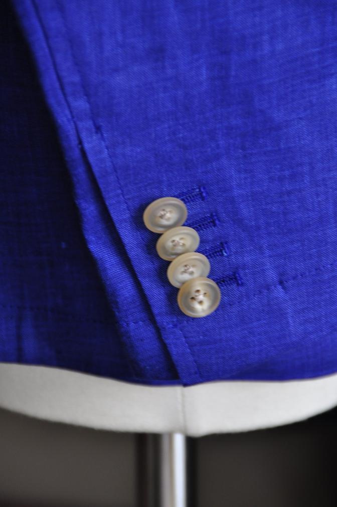 DSC0784 オーダージャケット -リネン ブルー ダブルジャケット-