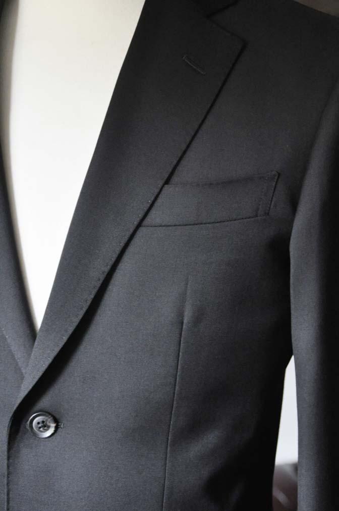 DSC0789-1 お客様のスーツの紹介- Biellesi ブラックスーツ-
