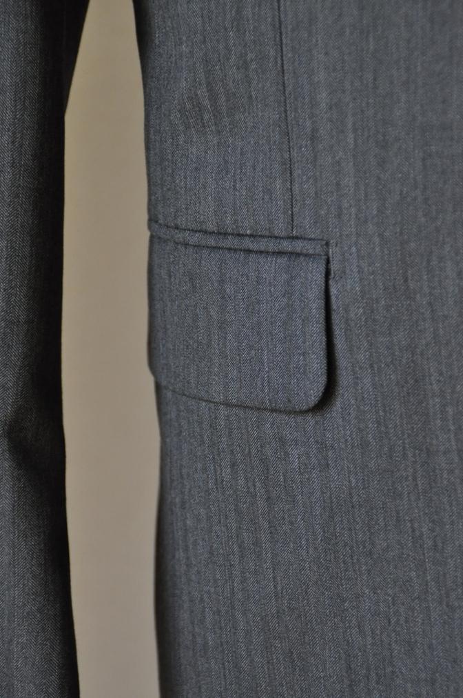 DSC07961 お客様のスーツの紹介-CANONICO グレーヘリンボーン スリーピース-