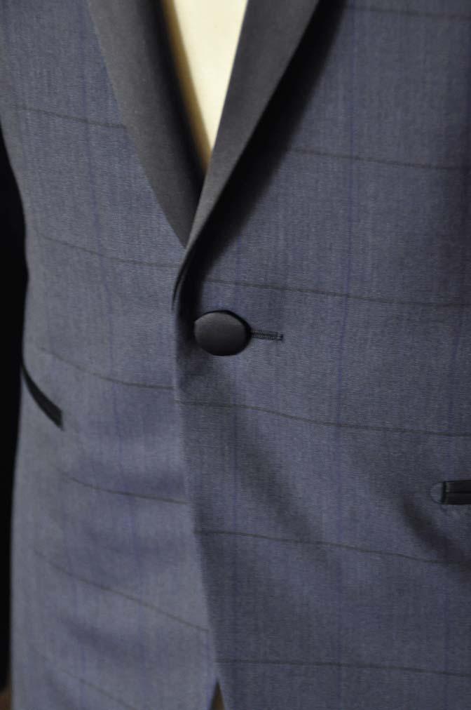 DSC08013 お客様のウエディング衣装の紹介-Biellesiネイビーウィンドペン ショールカラータキシード-