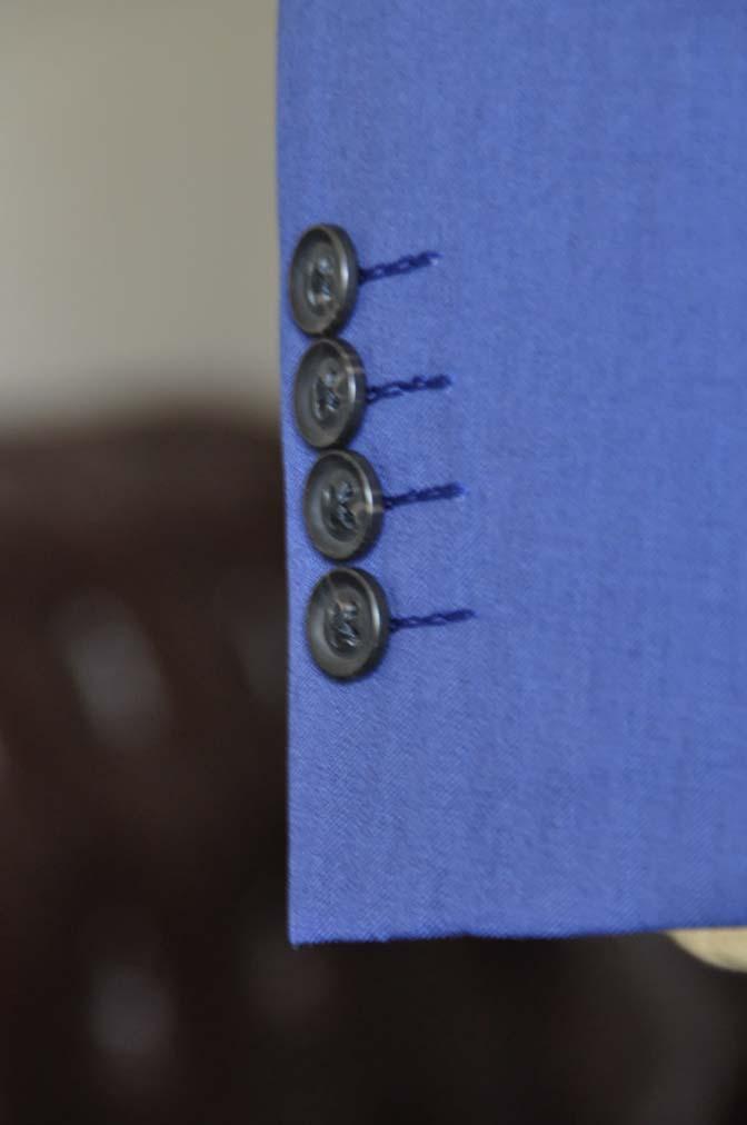 DSC0805-1 お客様のウエディング衣装の紹介- Biellesi ネイビーヘリンボーンスーツ グレーグレンチェックベスト- 名古屋の完全予約制オーダースーツ専門店DEFFERT