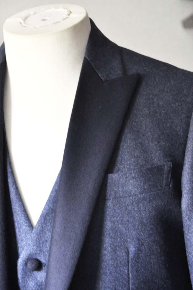 DSC0806-1 お客様のカジュアルタキシードの紹介- CANONICOネイビーフランネルタキシード風衣装-