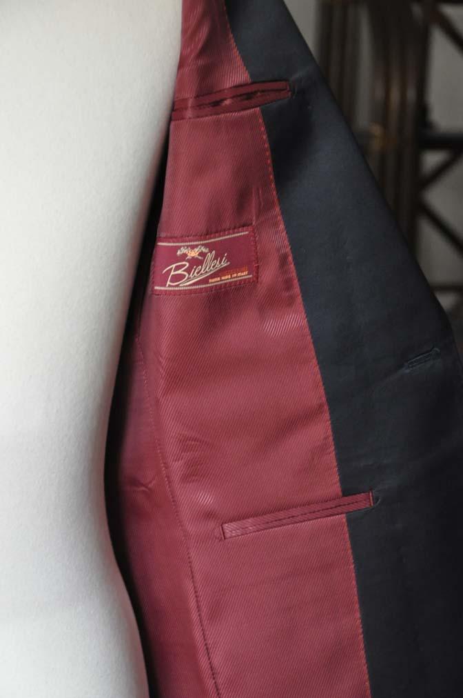 DSC08063 お客様のウエディング衣装の紹介-Biellesiネイビーウィンドペン ショールカラータキシード-