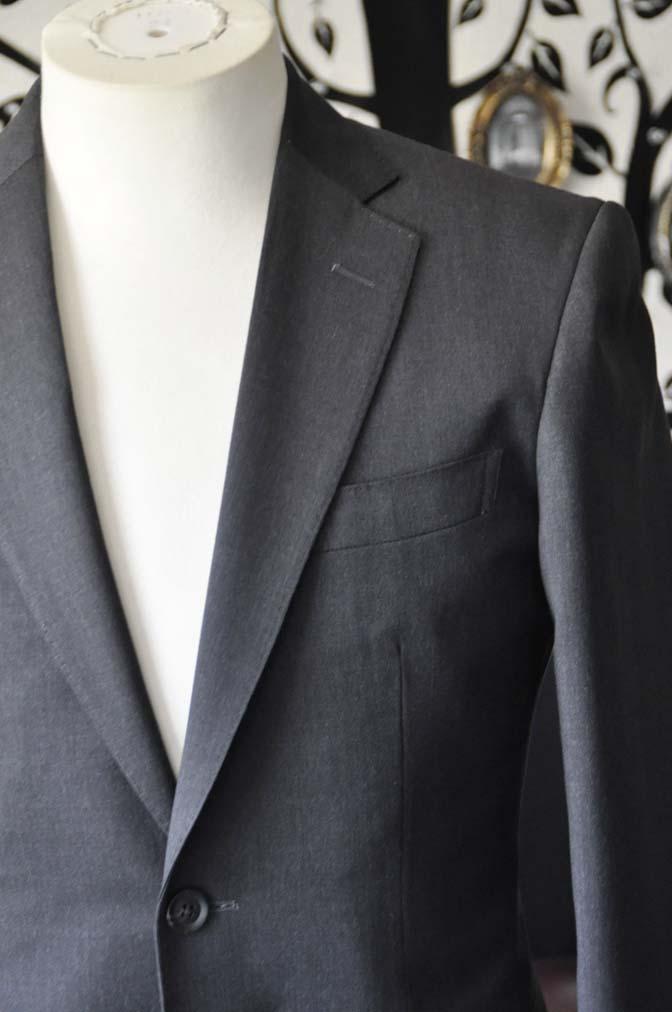 DSC0807-5 お客様のスーツの紹介-Biellesiチャコールグレースーツ-