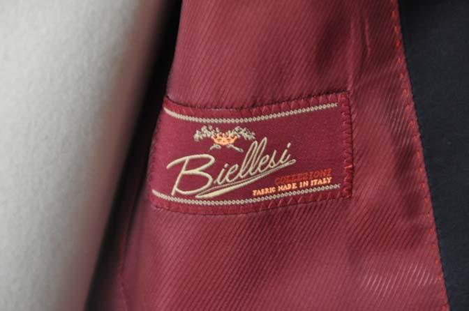 DSC08072 お客様のウエディング衣装の紹介-Biellesiネイビーウィンドペン ショールカラータキシード-
