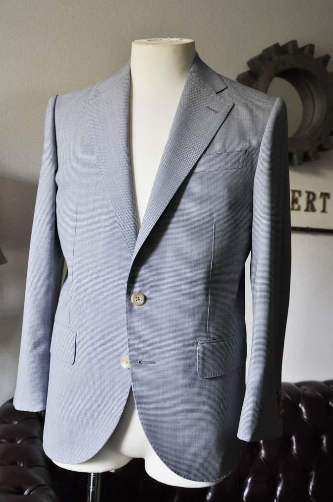 DSC0809-1 お客様のスーツの紹介- Biellesi 千鳥格子スーツ-