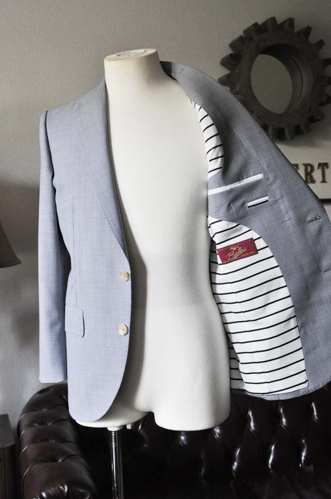DSC0811-1 お客様のスーツの紹介- Biellesi 千鳥格子スーツ-