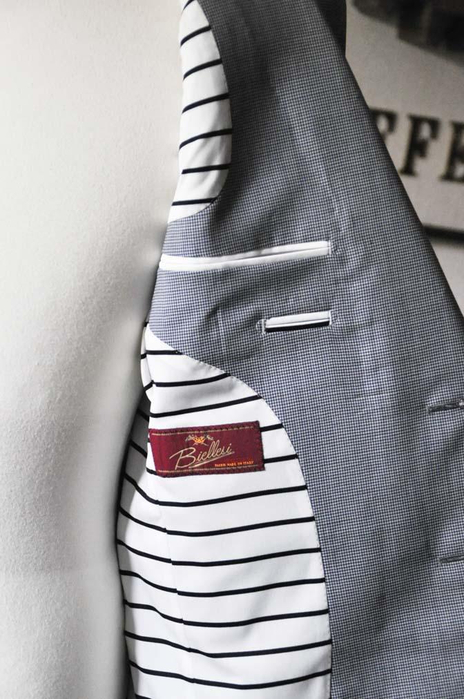 DSC0812-1 お客様のスーツの紹介- Biellesi 千鳥格子スーツ-