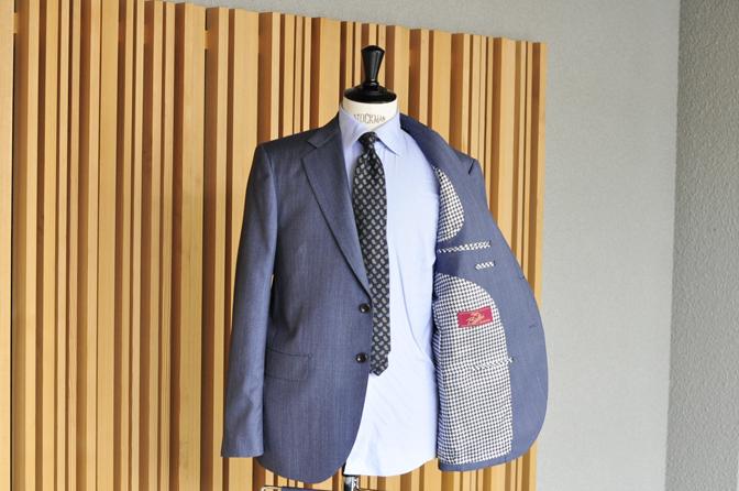DSC0812-5 オーダースーツの紹介-Biellesiネイビーグレーヘリンボーンスーツ-