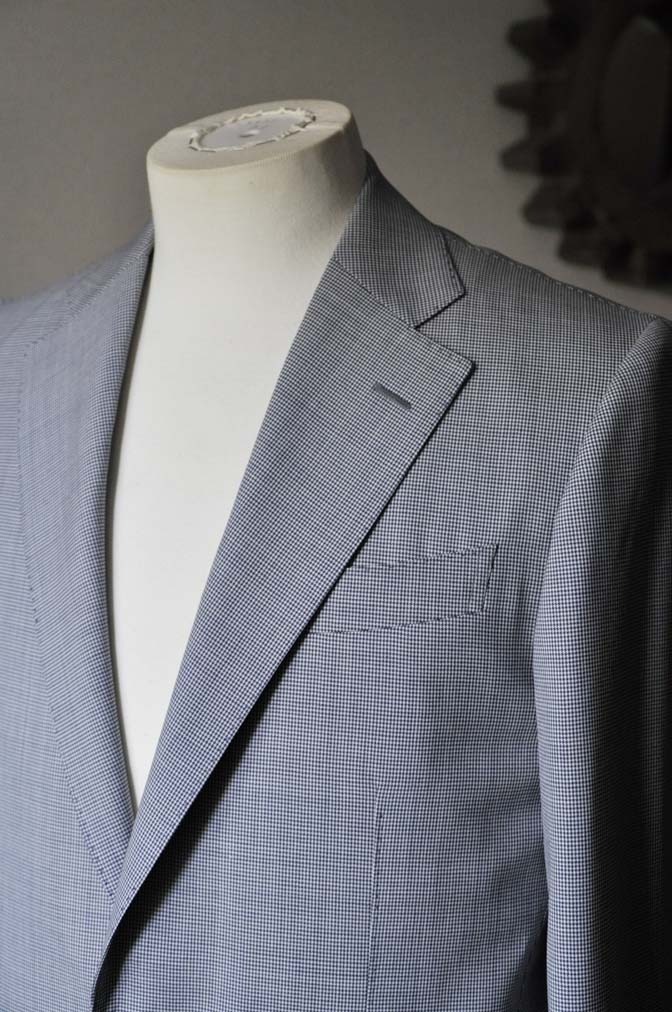 DSC0814-1 お客様のスーツの紹介- Biellesi 千鳥格子スーツ-