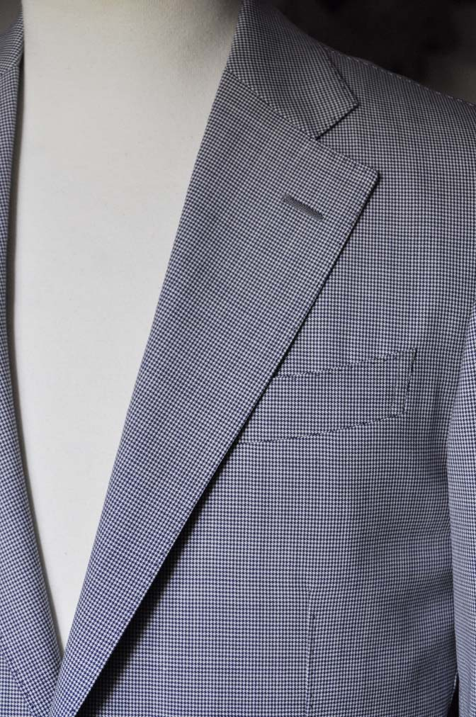 DSC0815-1 お客様のスーツの紹介- Biellesi 千鳥格子スーツ-
