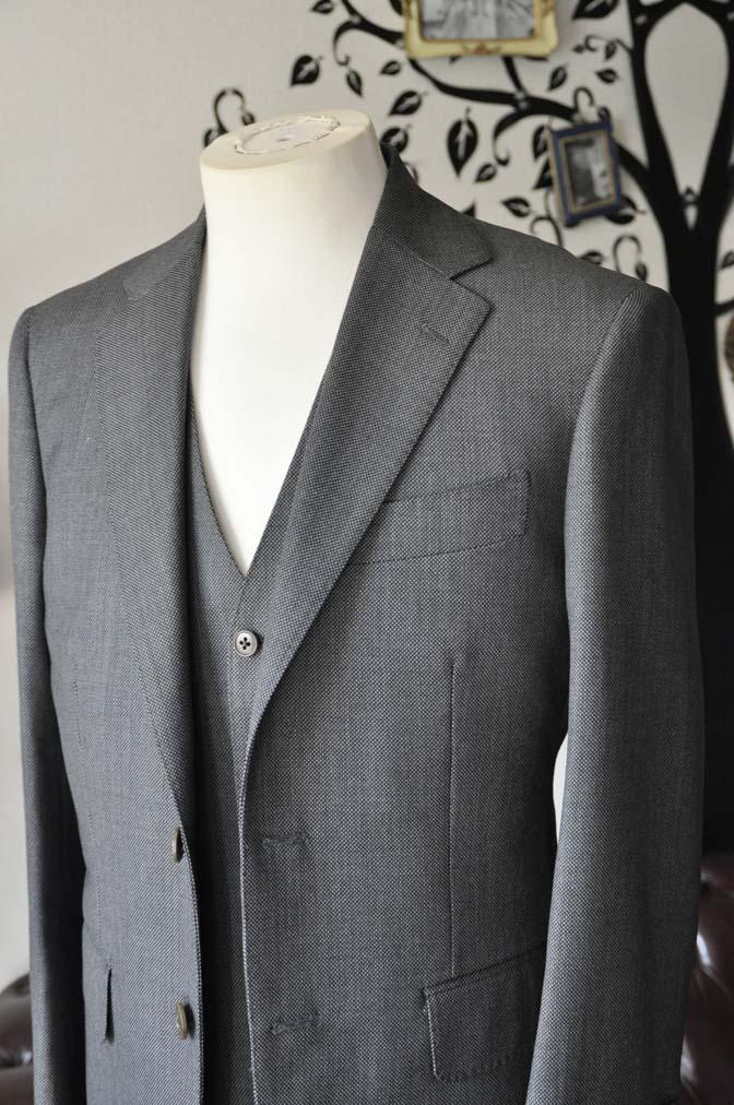 DSC0815-5 お客様のスーツの紹介-Biellesiグレーバーズアイスリーピース-