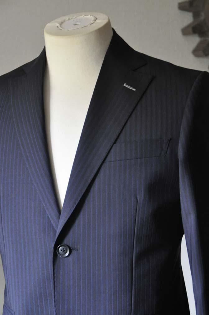 DSC0821-1 お客様のスーツの紹介- Biellesi ネイビーストライプスーツ- 名古屋の完全予約制オーダースーツ専門店DEFFERT