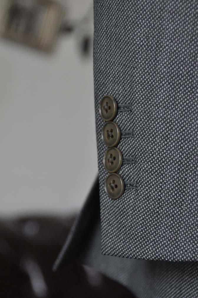 DSC0821-4 お客様のスーツの紹介-Biellesiグレーバーズアイスリーピース- 名古屋の完全予約制オーダースーツ専門店DEFFERT