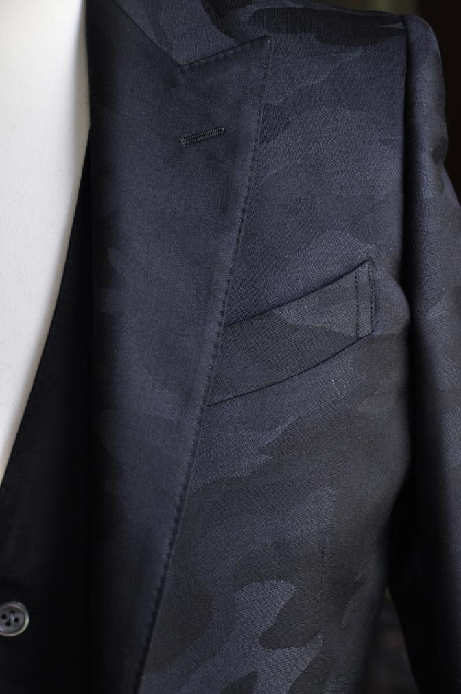 DSC0821 オーダースーツ -ブラック迷彩スリーピーススーツ-