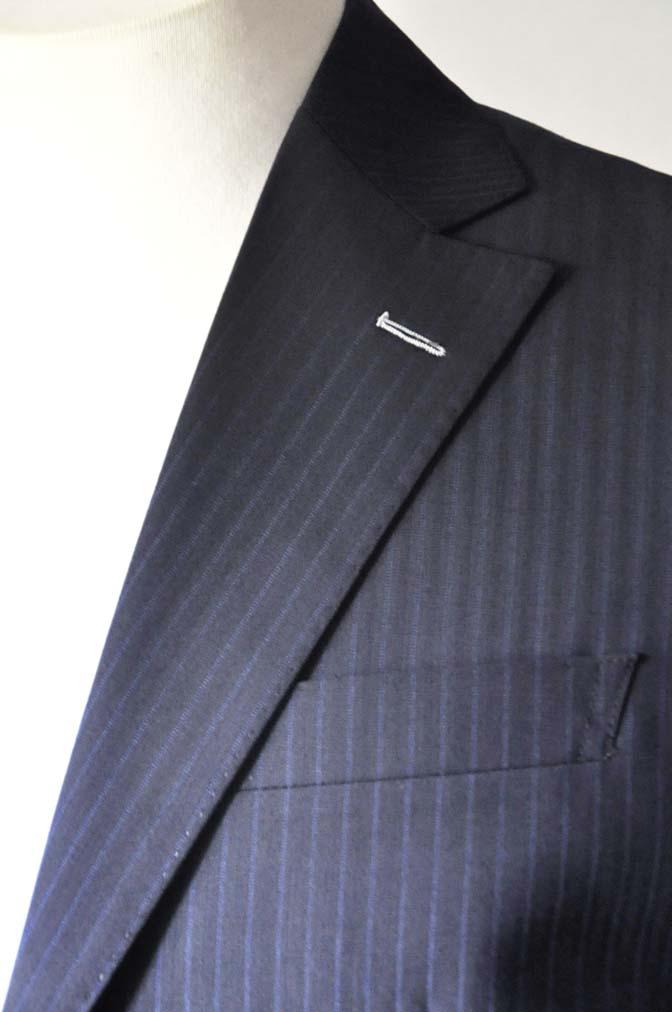 DSC0822-3 お客様のスーツの紹介- Biellesi ネイビーストライプスーツ- 名古屋の完全予約制オーダースーツ専門店DEFFERT