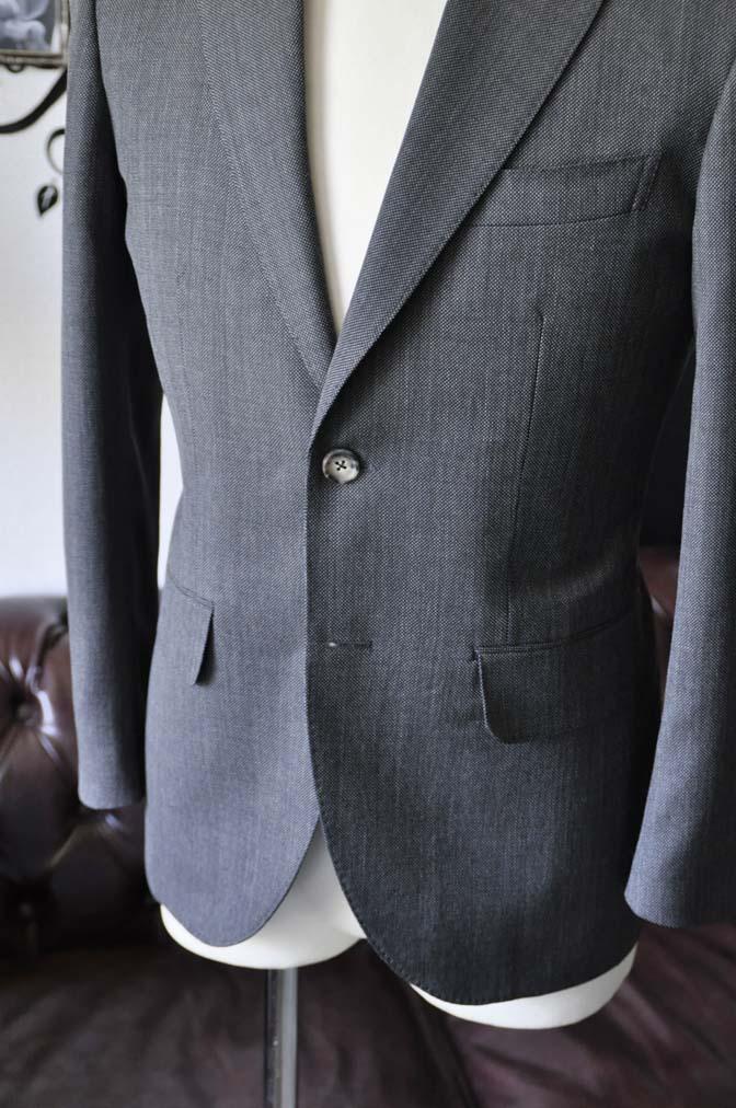 DSC0822-5 お客様のスーツの紹介-Biellesiグレーバーズアイ スーツ-