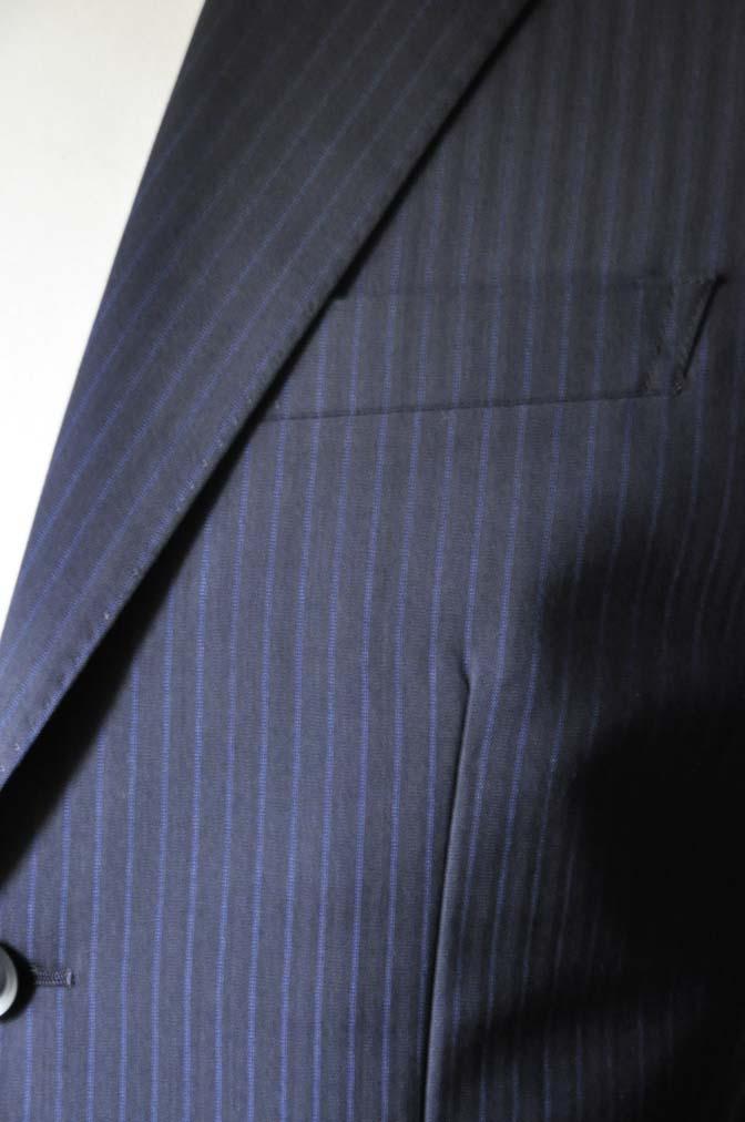 DSC0823-3 お客様のスーツの紹介- Biellesi ネイビーストライプスーツ- 名古屋の完全予約制オーダースーツ専門店DEFFERT