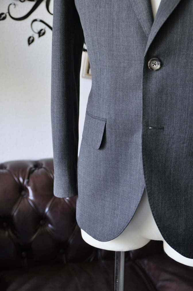 DSC0823-5 お客様のスーツの紹介-Biellesiグレーバーズアイ スーツ-